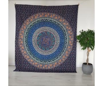 Mandala Kruhy Modrá
