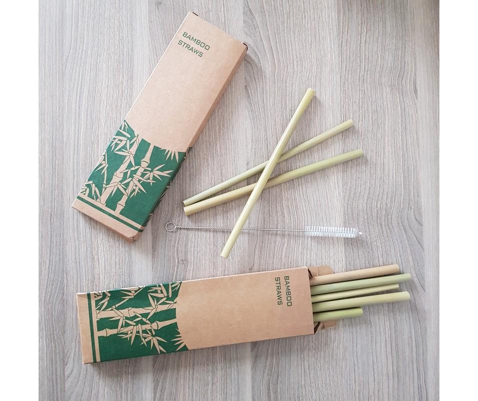 Bambusové slamky