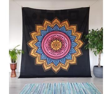 Mandala čierna s dúhou