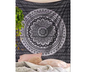 Strieborná Mandala Black