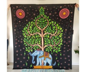 Tapiséria Slon a Strom Života