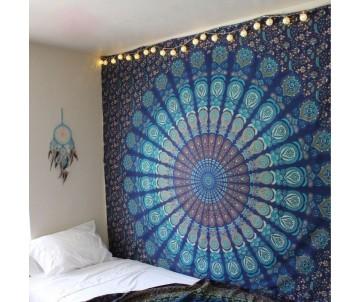 Mandala Páv Modrá