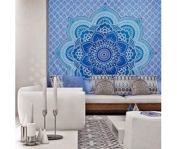 Mandala kvet modrá