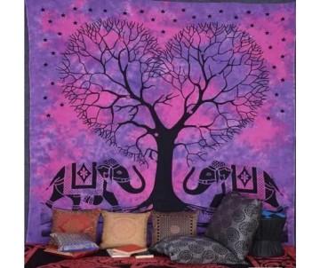 Indická plachta Slony a Strom života