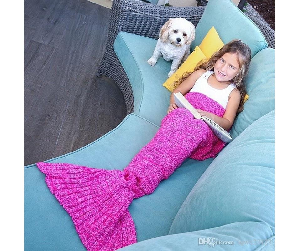 deka pre deti morska panna ruzova