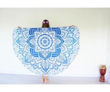 Roundie Mandala modrá okrúhla plachta