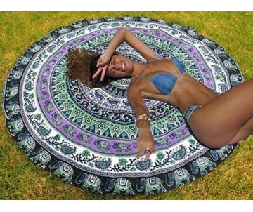 Roundie Mandala zelená pom pom