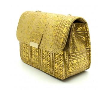 korkova eko kabelka zlata