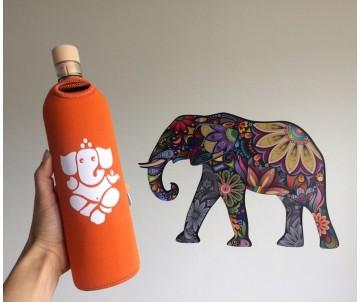 Eko sklenená flaška slon